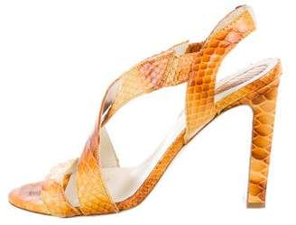 Devi Kroell Python Slingback Sandals