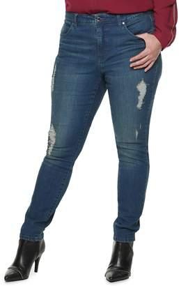 JLO by Jennifer Lopez Plus Size Lopez Midrise Skinny Jeans