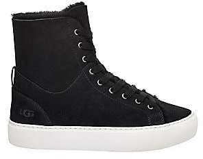 UGG Women's Beven High-Top Sheepskin-Lined Suede Sneakers
