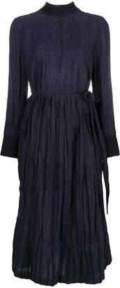 DAY Birger et Mikkelsen Bodice Studio merino wool overlap tie dress with steel