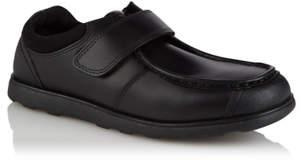 553af7e52 George Boys Black Leather Strap School Shoes