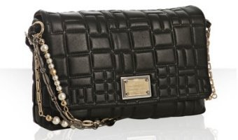 Dolce & Gabbana black quilted leather 'Miss Charles' chain shoulder bag