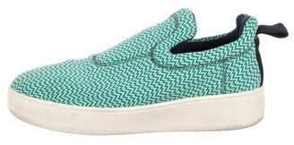 Celine Printed Woven Slip-On Sneakers