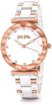 Folli Follie (フォリフォリ) - Star Flower Small Case Ceramic Bracelet Watch