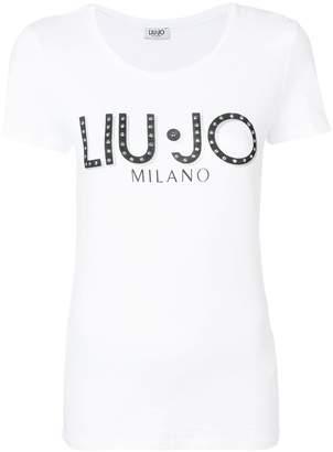Liu Jo embellished logo T-shirt