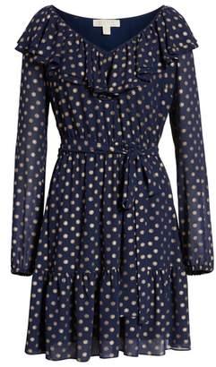 MICHAEL Michael Kors Sun Print Ruffle Dress
