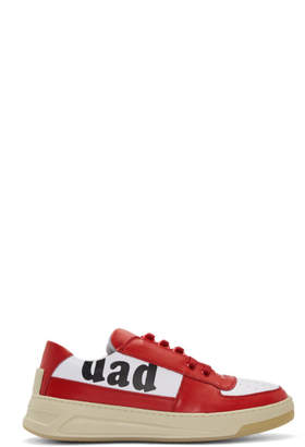 Acne Studios Red and White Dad Perey Sneakers
