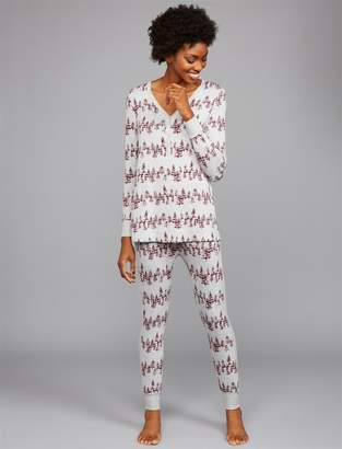 a84c45965549b A Pea in the Pod Relaxed Fit Maternity Pajama Set