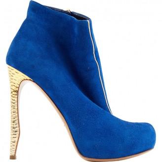 Nicholas Kirkwood Blue Suede Ankle boots