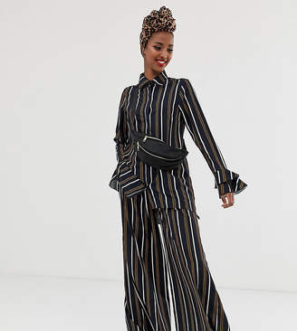 Verona long sleeve shirt two-piece in multi stripe