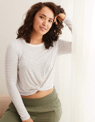 Aerie Real Soft Ribbed Baby Tee