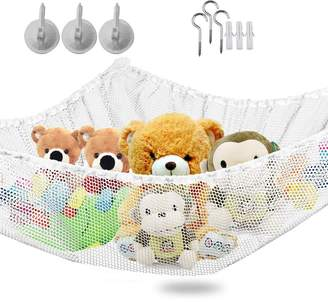 IvyH Toy Hammock - Stuffed Animals And Kids Toy Organizer Storage Net Hanging Corner Wall,Easy To Install