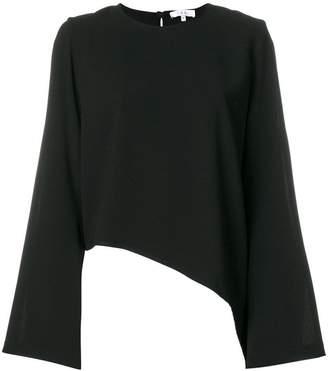 IRO asymmetric cut out shoulder top