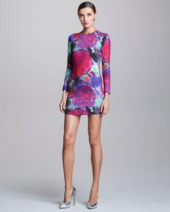 Christopher Kane Floral-Print Stretch Minidress