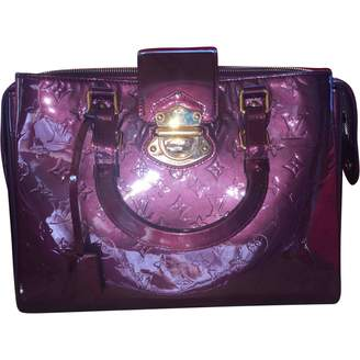 Louis Vuitton Purple Patent Leather Handbag