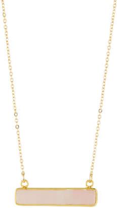 Panacea Stone Bar Pendant Necklace, Light Pink