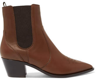 Gianvito Rossi Austin 45 Leather Chelsea Boots - Brown