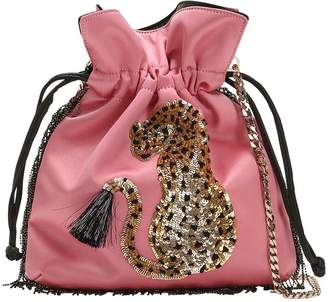 Les Petits Joueurs Trilly Cheetah Satin Shoulder Bag