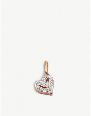 Monica Vinader Alphabet Heart 18ct rose-gold vermeil and diamond pendant