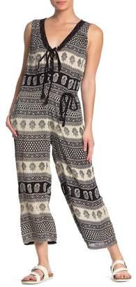 Raga Jessica Lace-Up Printed Jumpsuit
