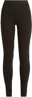 RYAN ROCHE Ribbed-knit cashmere-blend leggings