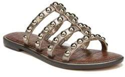 Sam Edelman Glen Studded Metallic Leather Slides