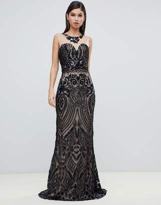 Forever Unique embellished sweetheart strapless maxi dress