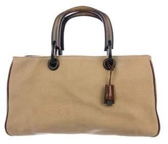 Gucci Canvas Wooden Handle Bag