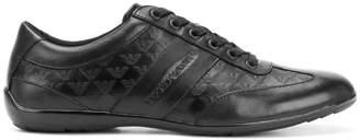 Emporio Armani logo embossed runner sneakers