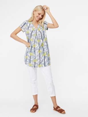 White Stuff Rice Flower Print Jersey Tunic