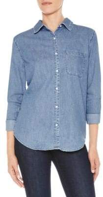 Joe's Jeans Quarter-Sleeve Denim Button-Down Shirt