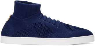 Fendi Blue Sock Slip-On Sneakers $700 thestylecure.com
