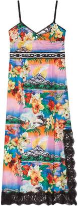 Gucci Hawaiian print silk dress
