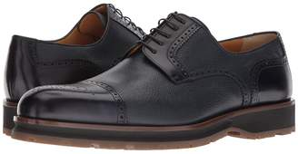 a. testoni Mixed Media Rubber Sole Cap Toe Derby