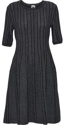 M Missoni Metallic Ribbed-knit Dress