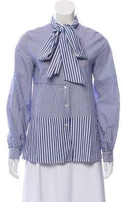 Tanya Taylor Striped Button-Up Top
