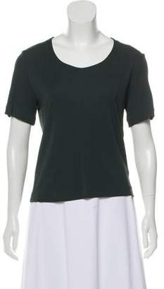 Calvin Klein Collection Short Sleeve Scoop Neck Top