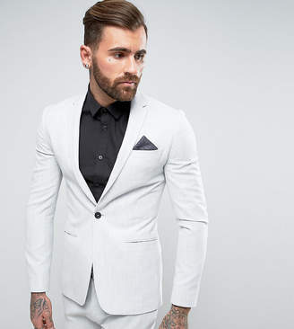Religion Super Skinny Suit Jacket in Pale Gray