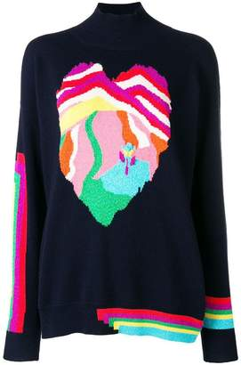 Barrie Heart cashmere sweater