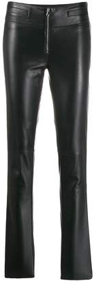 Emporio Armani skinny leather trousers
