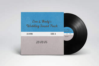 MixPixie The Wedding Gift: Personalised Seven Inch Vinyl Record