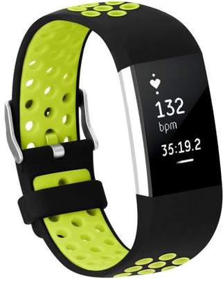 Fitbit Adepoy Soft Silicone Replacement Sport Wrist Bands Strap for Charge 2 (Green, Small)