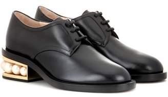 Nicholas Kirkwood Casati embellished leather Derby shoes