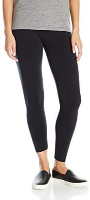 "David Lerner Women's Basic 9"" Rise Legging, L"