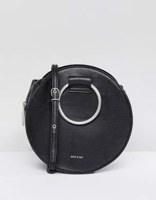 Matt & Nat Sina Ring Handle Bag With Cross Body Strap