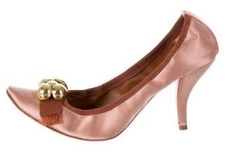 Chloé Pointed-Toe Satin Pumps