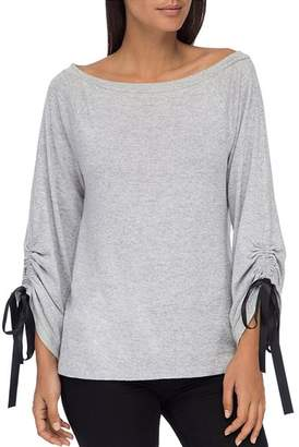 Bobeau B Collection by Jess Tie Sleeve Top