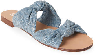 Splendid Light Blue Barton Denim Slide Sandals