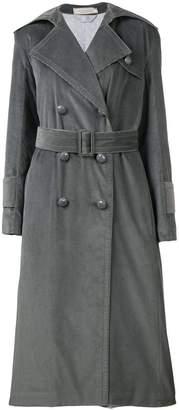 Nina Ricci velvet cord trench coat