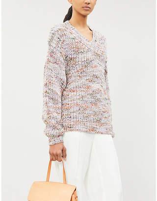 Samsoe & Samsoe V-neck melange knitted jumper